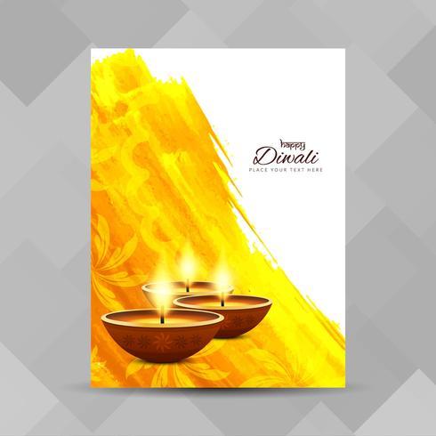 Diseño de folleto abstracto feliz Diwali festival
