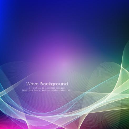 Abstract stylish colorful wave background