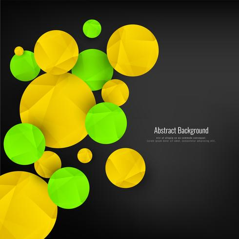 Abstract geometric circles background vector