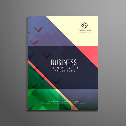 Diseño geométrico colorido abstracto del folleto del negocio