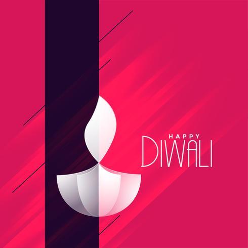 fond de voeux élégant créatif diwali diya