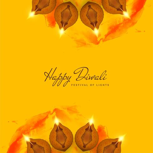 Abstrakt dekorativa Happy Diwali bakgrund