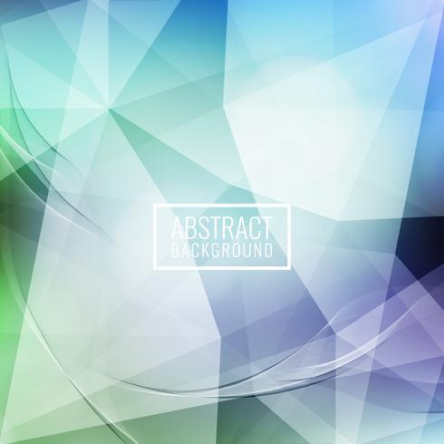 Abstrakt vågig geometrisk bakgrund