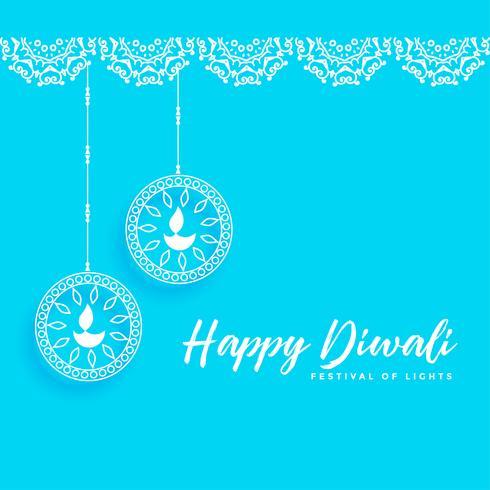 glad diwali bakgrund med festlampor