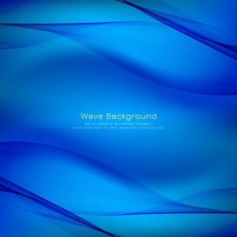 Abstrakt blåvåg bakgrund