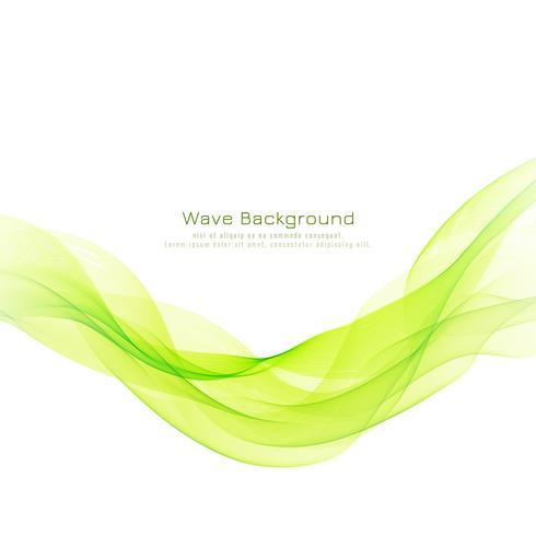 Abstrakt grön våg dekorativa elegant bakgrund