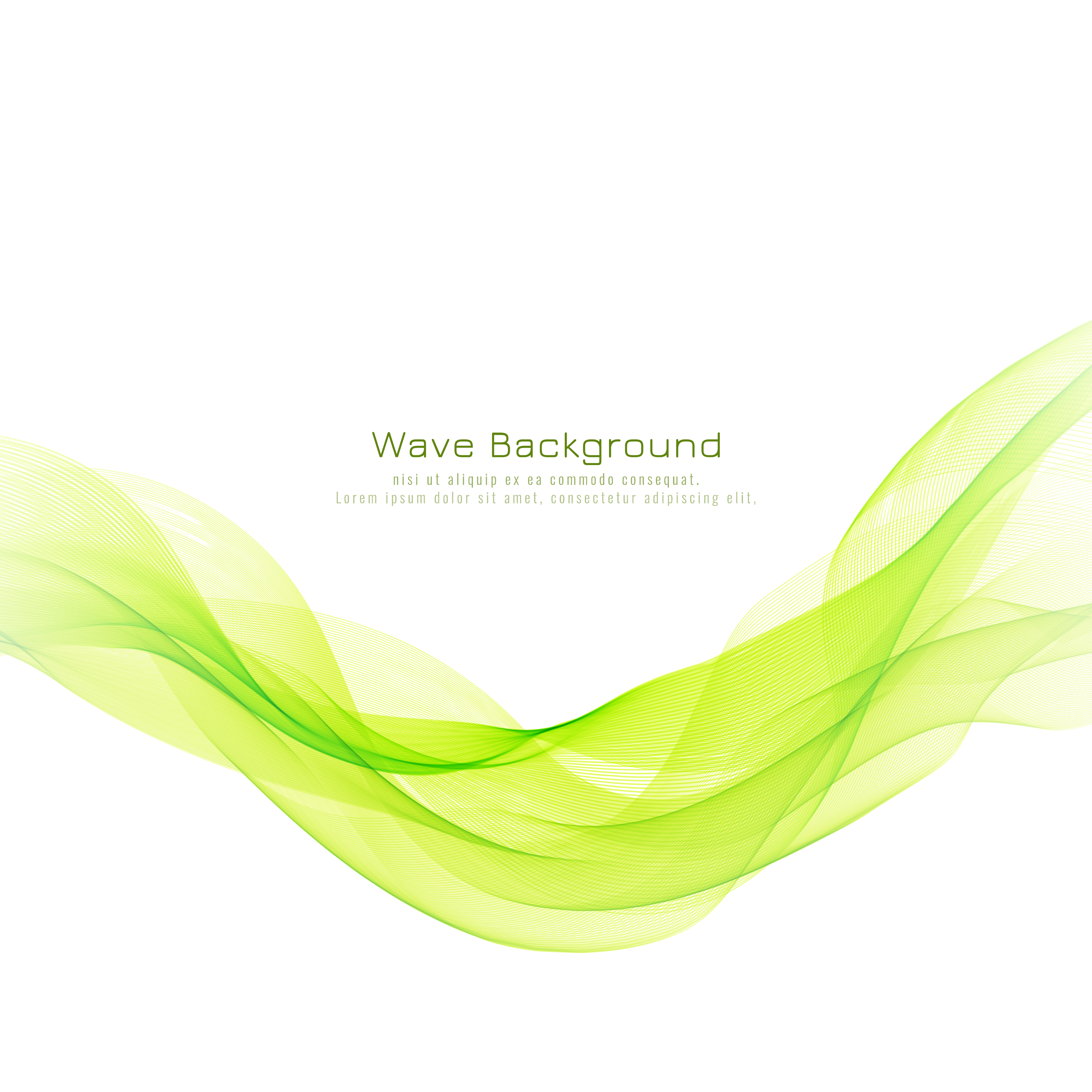 Abstract Green Wave Decorative Elegant Background