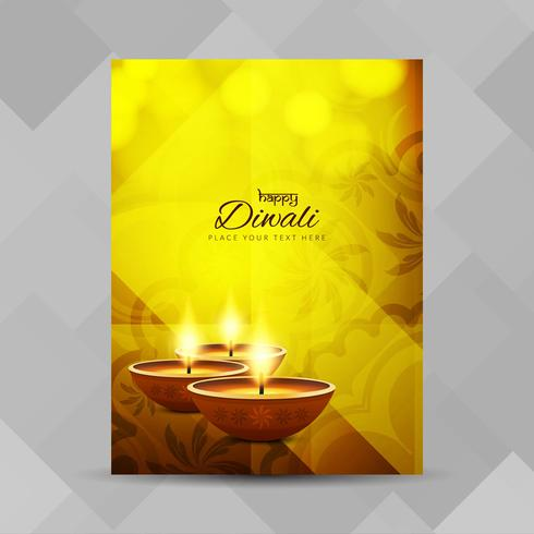 Abstrakt Glad Diwali broschyr design mall