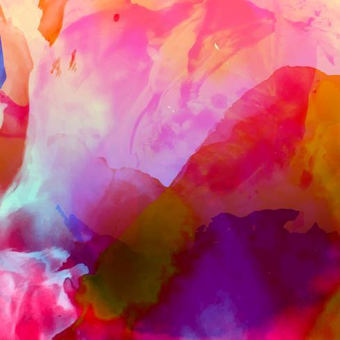 Fundo moderno aquarela colorido abstrato vetor