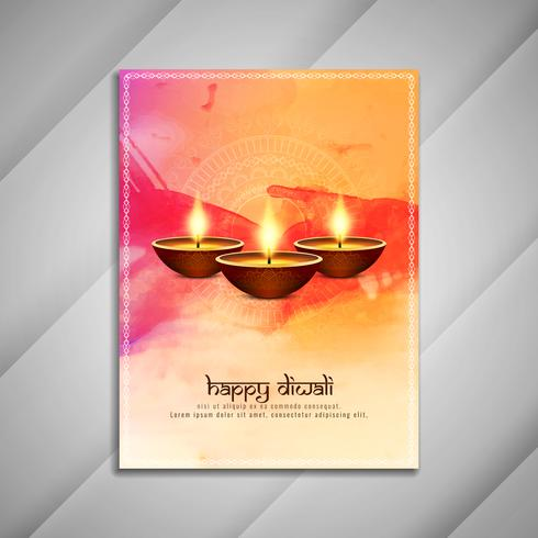 Diseño de folleto abstracto feliz Diwali