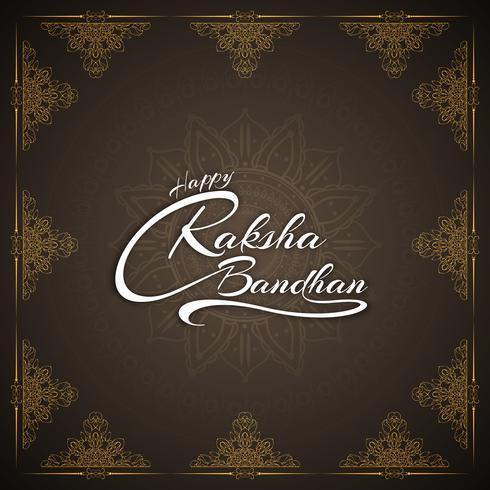 Fondo elegante abstracto feliz del diseño del texto del bandhan de Raksha vector