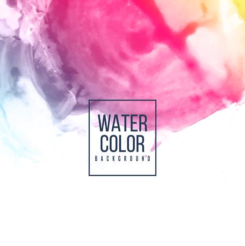 Abstract watercolor design colorful background vector