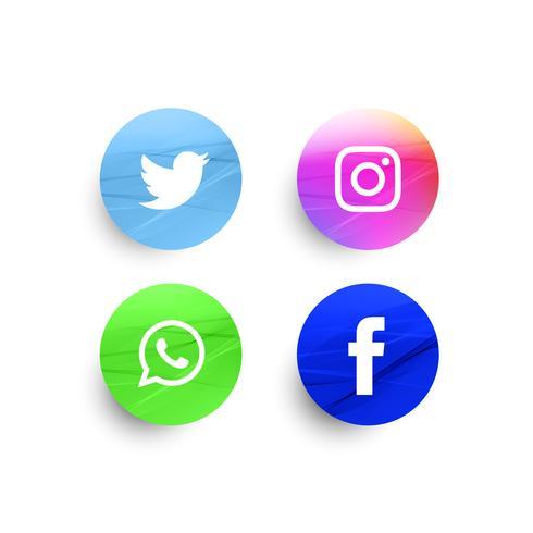 Set di icone di social media astratto