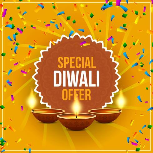 Resumen feliz Diwali oferta oferta fondo vector