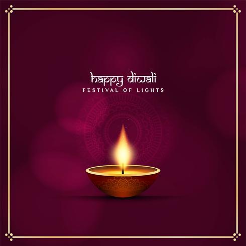 Fondo decorativo de Diwali feliz religioso abstracto