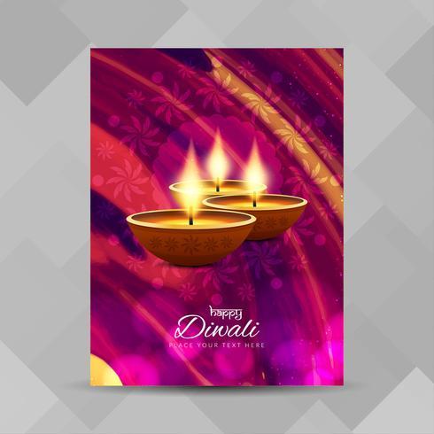 Abstrakt Glad Diwali broschyr design mall