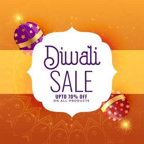 kreativ diwali försäljning banner med crackers