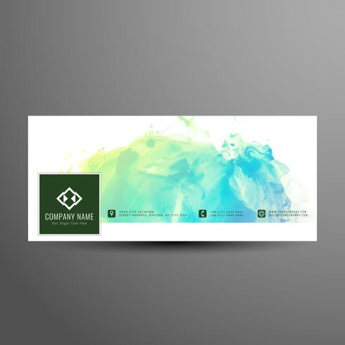 Abstract facebook timeline elegant banner template vector