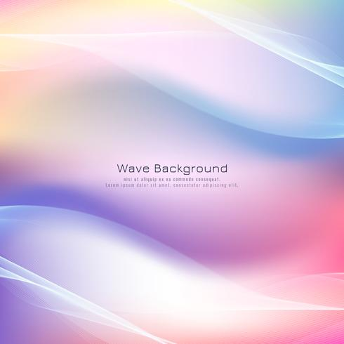 Abstract wave colorful background vector