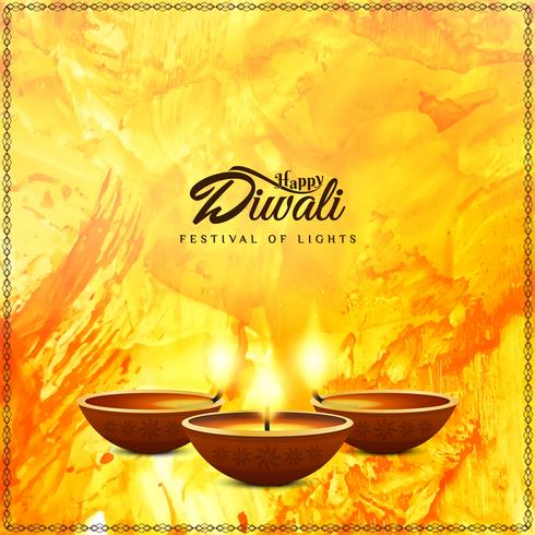 Abstract Happy Diwali religious background vector