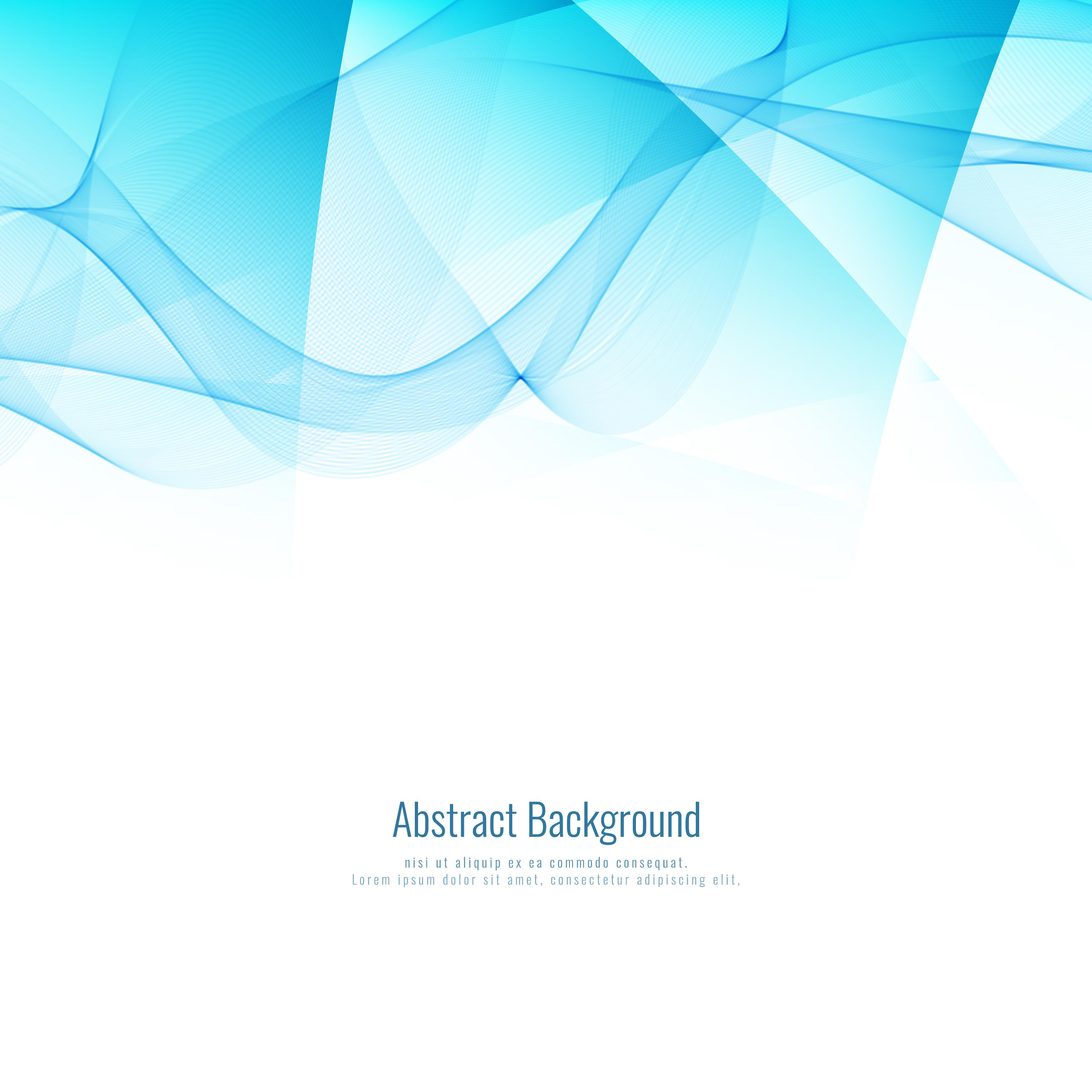 Abstract Blue Wavy Modern Geometric Background Design