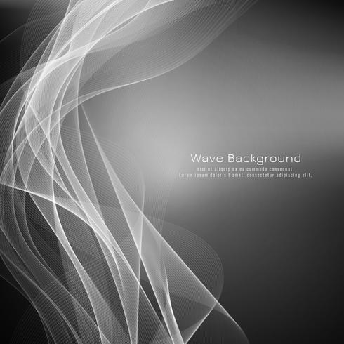Abstract elegant grey wave background vector