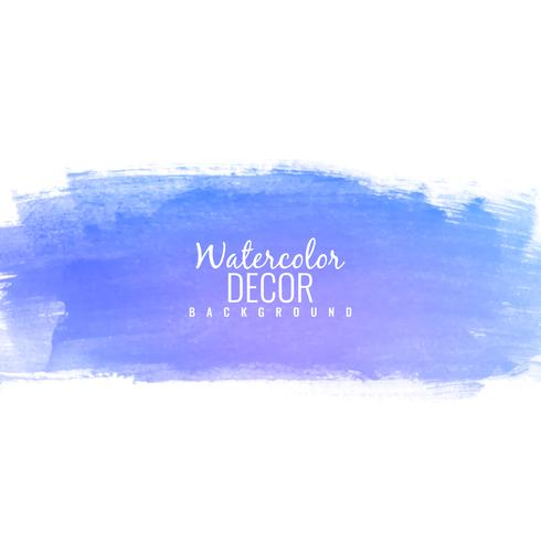 Abstract colorful blue watercolor stroke design background illus vector