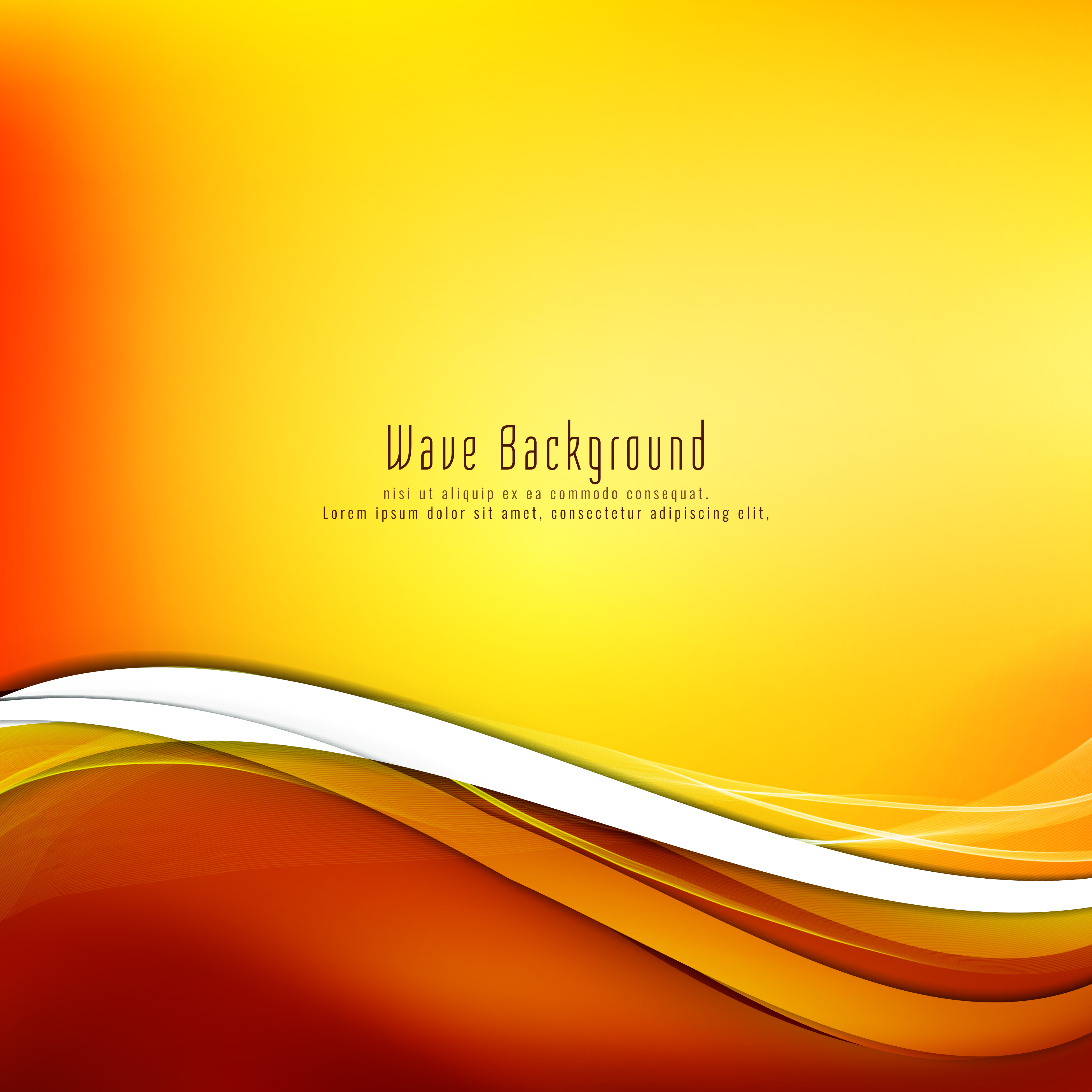 Abstract stylish yellow wave background - Download Free ...