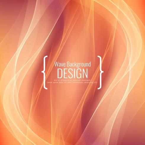 Design de fond abstrait vague élégante