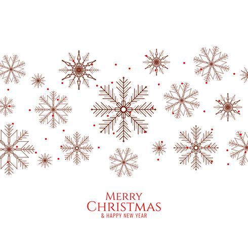 Fondo elegante astratto di Buon Natale con i fiocchi di neve