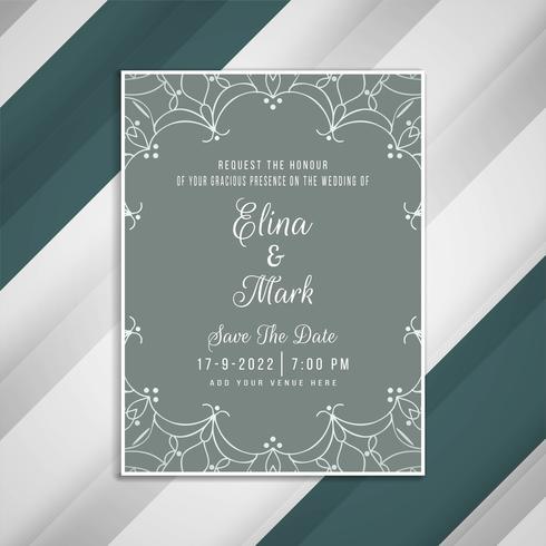 Abstraktes schönes Hochzeitseinladungs-Karten-Design