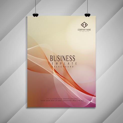 Abstract elegant colorful wavy business brochure design vector