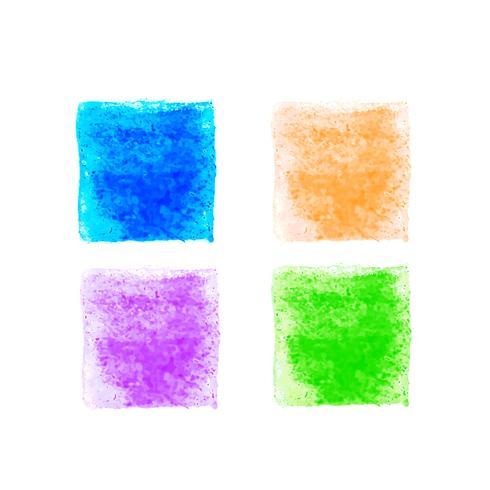 Abstrakta färgglada vattenfärgformer uppsättning