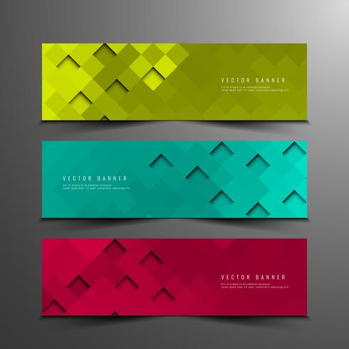 Abstract modern banners set vector