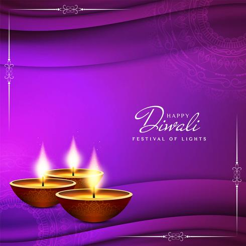 Abstract Happy Diwali religious greeting background vector