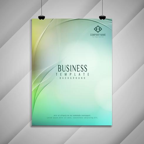 Abstract colorful wavy business brochure stylish design