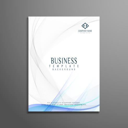 Sjabloon voor moderne golvende zakelijke brochure folder