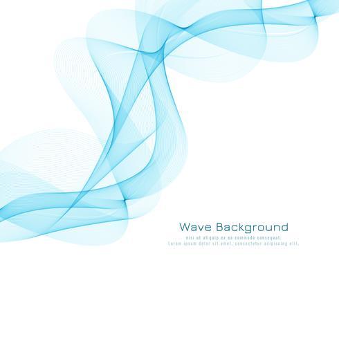 Diseño de fondo modernelegant ondulado azul abstracto