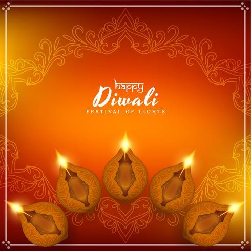 Abstrakt stilig Happy Diwali festival bakgrund