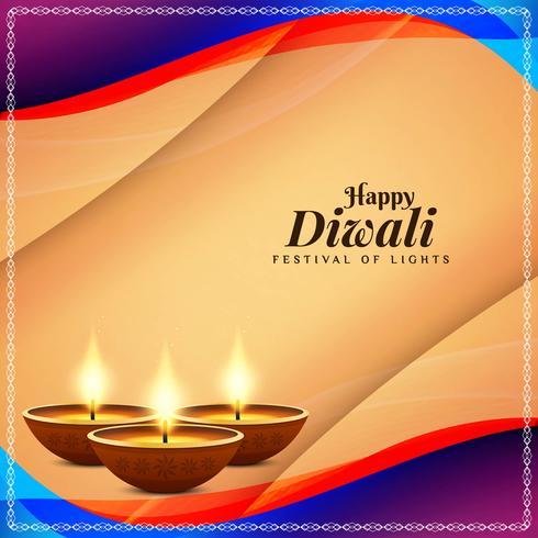 Abstrait joyeux Diwali voeux religieux