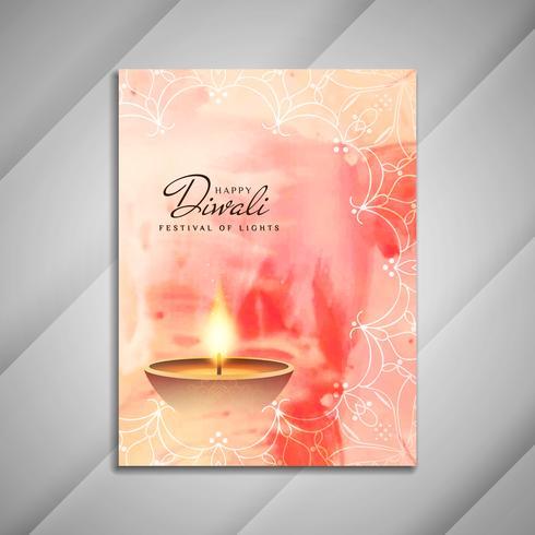 Diseño abstracto feliz del folleto de Diwali;
