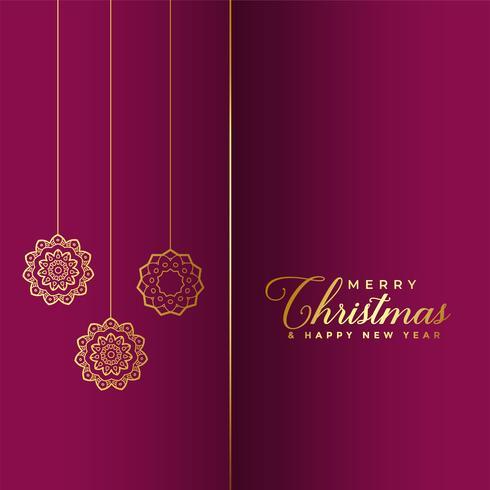 högt glatt julguld bakgrund
