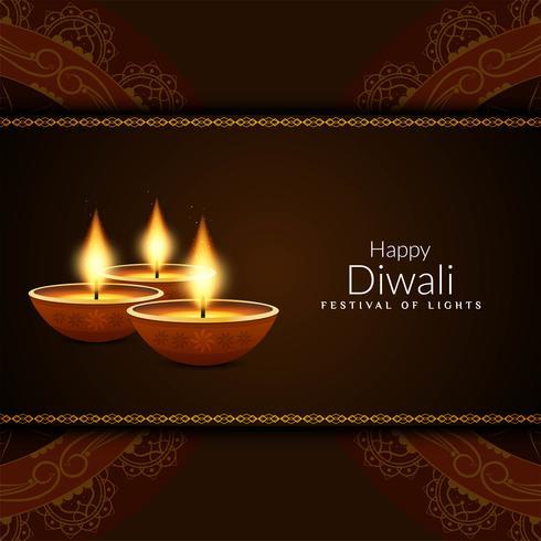 Abstrakt Glad Diwali festival hälsning bakgrund