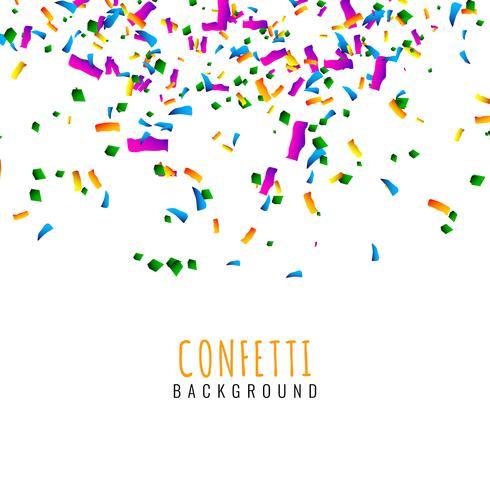 Fondo de celebración de confeti colorido abstracto