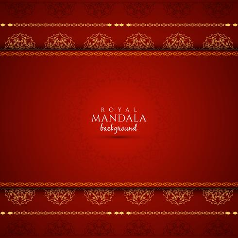 Abstract beautiful luxury mandala vector background