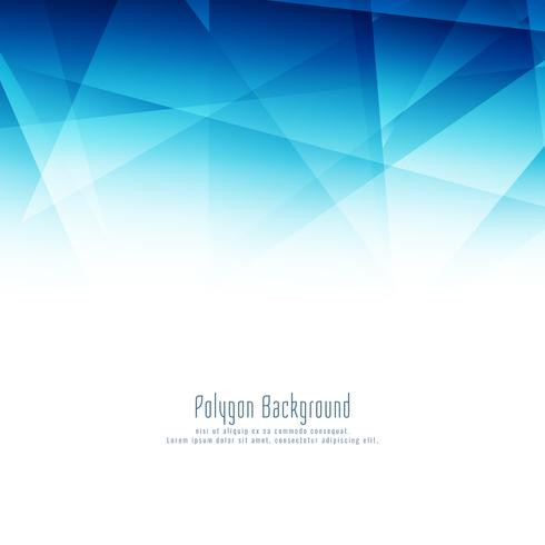 Abstrakt blå polygon modern design bakgrund
