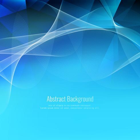 Fondo poligonal ondulado azul abstracto