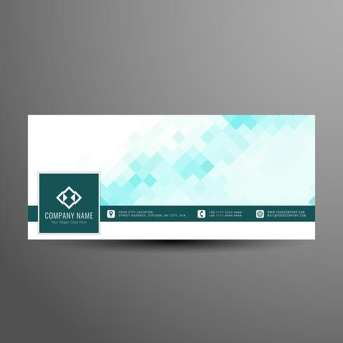 Abstract colorful facebook timeline banner template