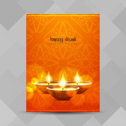 Progettazione dell'opuscolo festival Diwali astratto felice