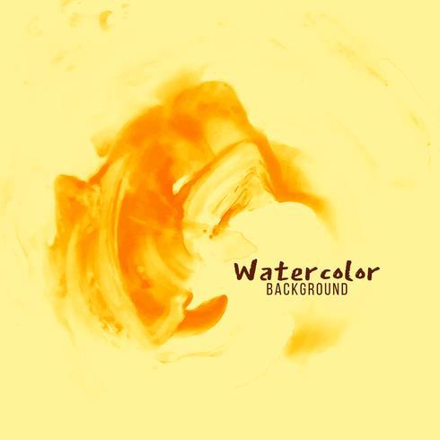 Dessin abstrait aquarelle jaune